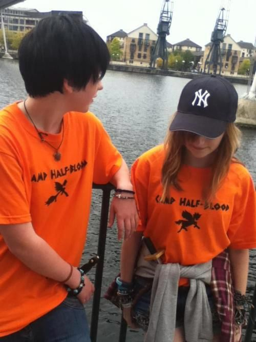 Percy and Annabeth (that sad moment when you realize these cos-players look more like the characters, than the movie actors do. *sighs*