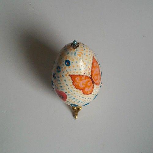 Motyle pisanka - Wielkanoc - Ozdoby świąteczne