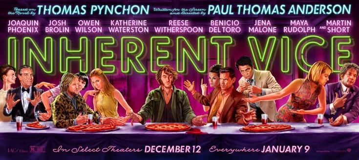 Banner poster for INHERENT VICE (Paul Thomas Anderson, USA, 2014) Designer: TBD Poster source: IMPAwards Happy Thanksgiving!