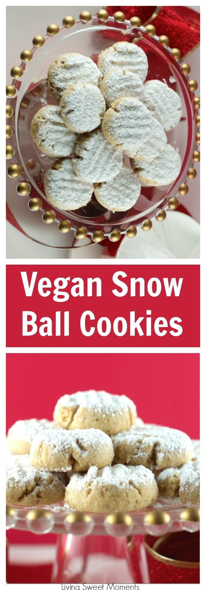 This delicious Walnut Snowball cookies recipe is vegan, easy to make, and delicious! Made with walnut oil is the perfect Christmas cookie recipe for parties and cookie exchanges or celebrations.  via @Livingsmoments