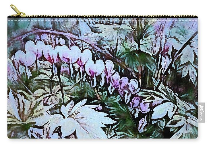 "Drops Of Fervor Carry-All Pouch by Leslie Montgomery.  Our pouches are great.  They're availabe in sizes from 6"" x 5"" up to 12.5"" x 8.5"".  Each pouch is printed on both sides (same image)."