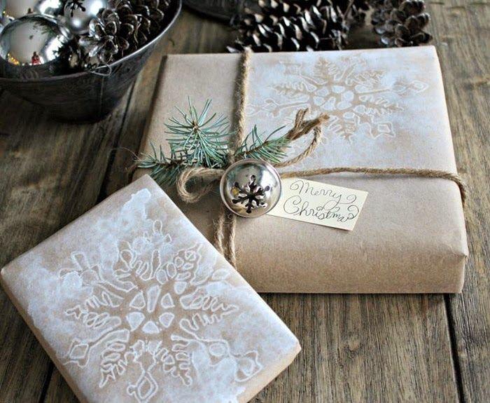 Новогодняя упаковка подарков своими руками: 25 идей с крафт-бумагой   Christmas gift wrapping with craft paper