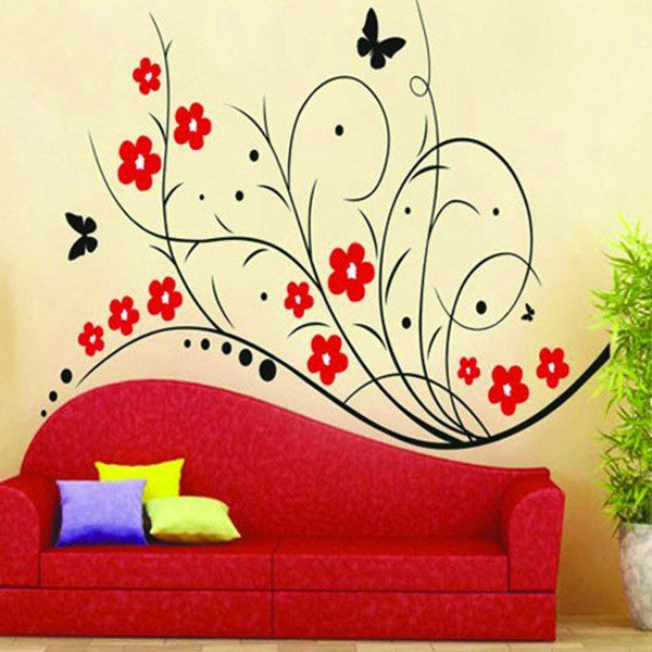 High Quality Lovely Flower Pattern Removeable Wall Stickers #jewelry, #women, #men, #hats, #watches, #belts