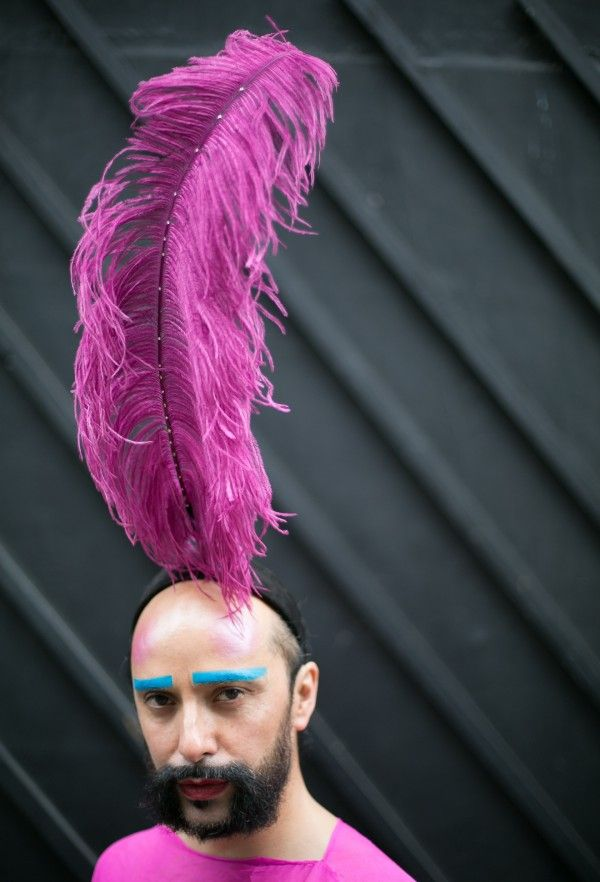 Boylesque costume and stage makeup inspiration from London Collections: Men SS16. Nods wisely.