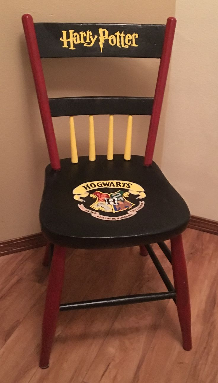 Harry Potter Painted Chair Art Chairs And Design In 2019