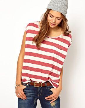 Hilfiger Denim Loose Striped T-Shirt