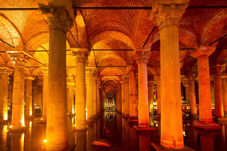 The Basilica Cistern, the sunken palace under the Hagia Sophia by Pedro Szekely