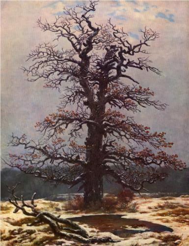 Oak tree in the snow - Caspar David Friedrich