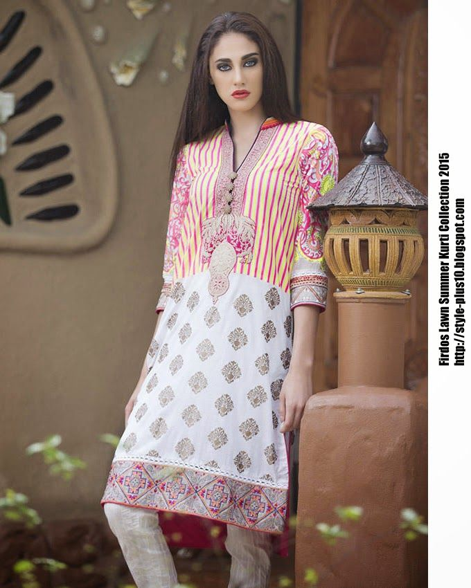 15-EXC-K8A From FIRDOUS Carnival Kurti Collection 2015