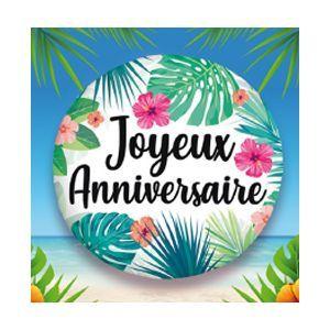 18 pouces Joyeux 10th Anniversaire Holographique Bleu Feuille Ballon 45 cm Party Decor