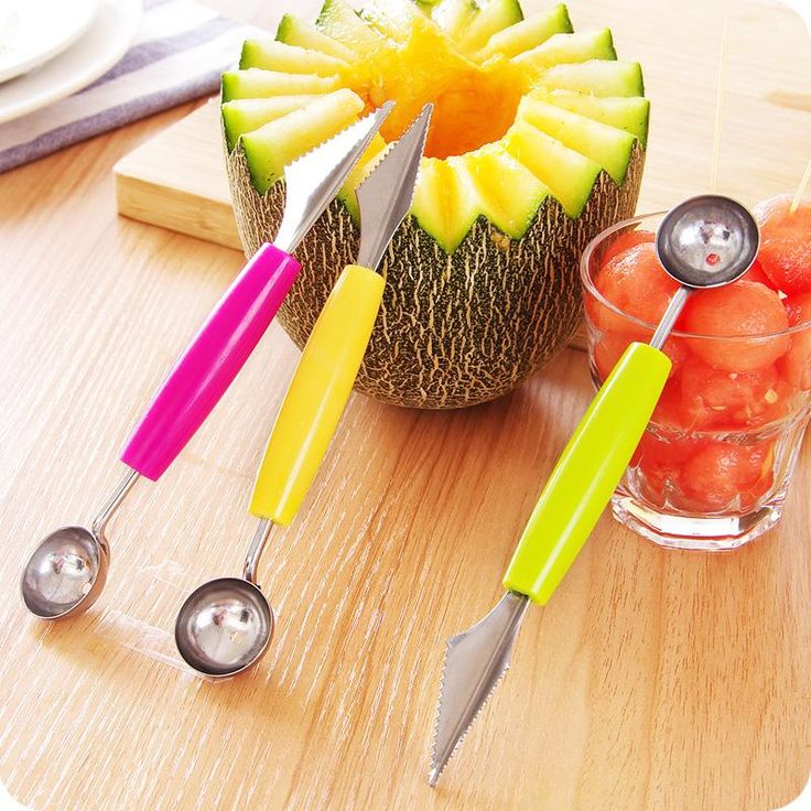 Melon Baller with Fruit Carving Tool