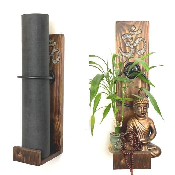 Om Yoga Mat Holder Handmade Yoga Mat Holder Vertical Yoga Mat Holder Wall Mounted Yoga Mat Holder Yoga Mat Holder Yoga Mat Yoga Mat Pattern