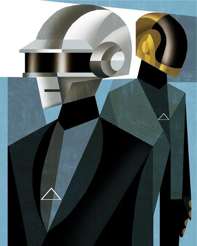 Daft Punk / illustration by Francisco Javier Olea
