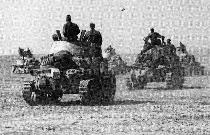 "Italian column - M13/40 tanks - ""Ariete "" armored division, pin by Paolo Marzioli"