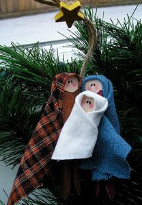 Fabric Nativity Christmas Tree Ornament | AllFreeChristmasCrafts.com