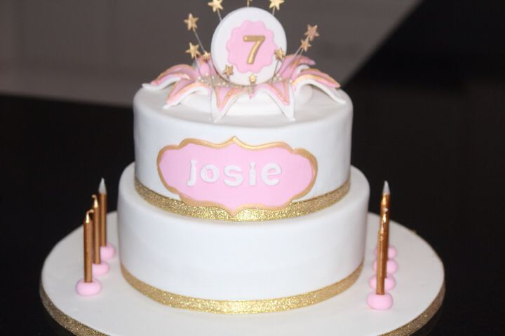 Pink and Gold girly cake