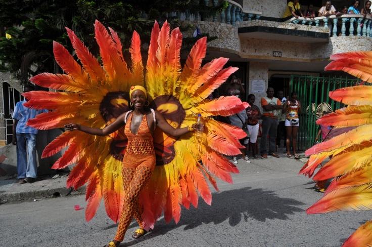 Comparsa Barrio La Yesquita - Fiestas de San Pacho, principal festividad del departamento.