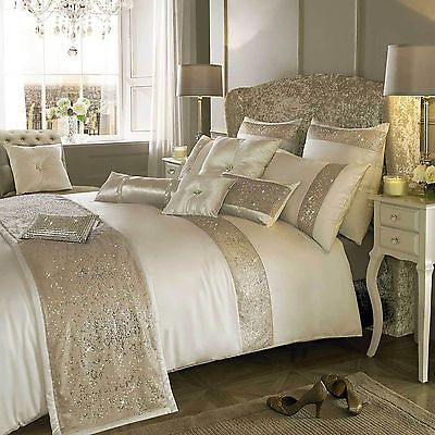 Designer Kylie Minogue DUO OYSTER Cream Bed Linen Bedding Quilt Duvet Cover New