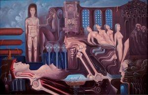 """Erwin Sówka """"Postęp cywilizacyjny""""  (1981)"""