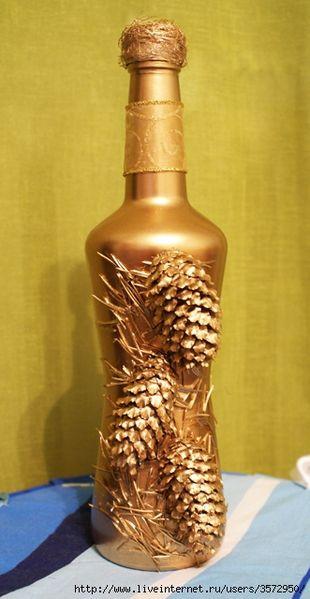 Бутылки. Декор. Идеи из интернета. Обсуждение на LiveInternet - Российский Сервис Онлайн-Дневников