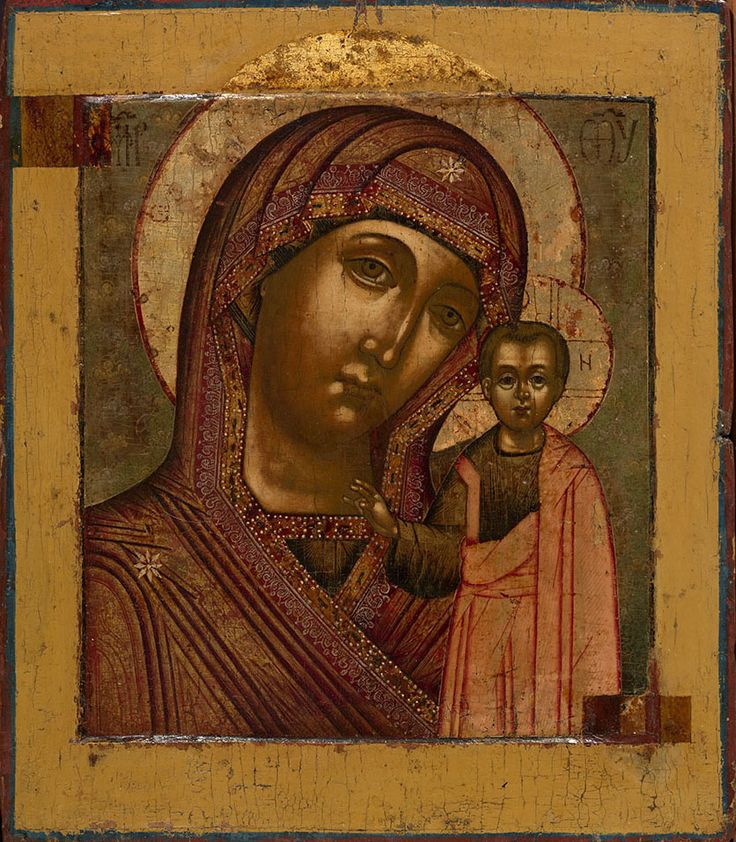 MOTHER OF GOD OF KAZAN    MOSCOW OR KOSTROMA, MASTER OF THE ARMOURY CHAMBER CIRCLE, LATE 17TH CENTURY