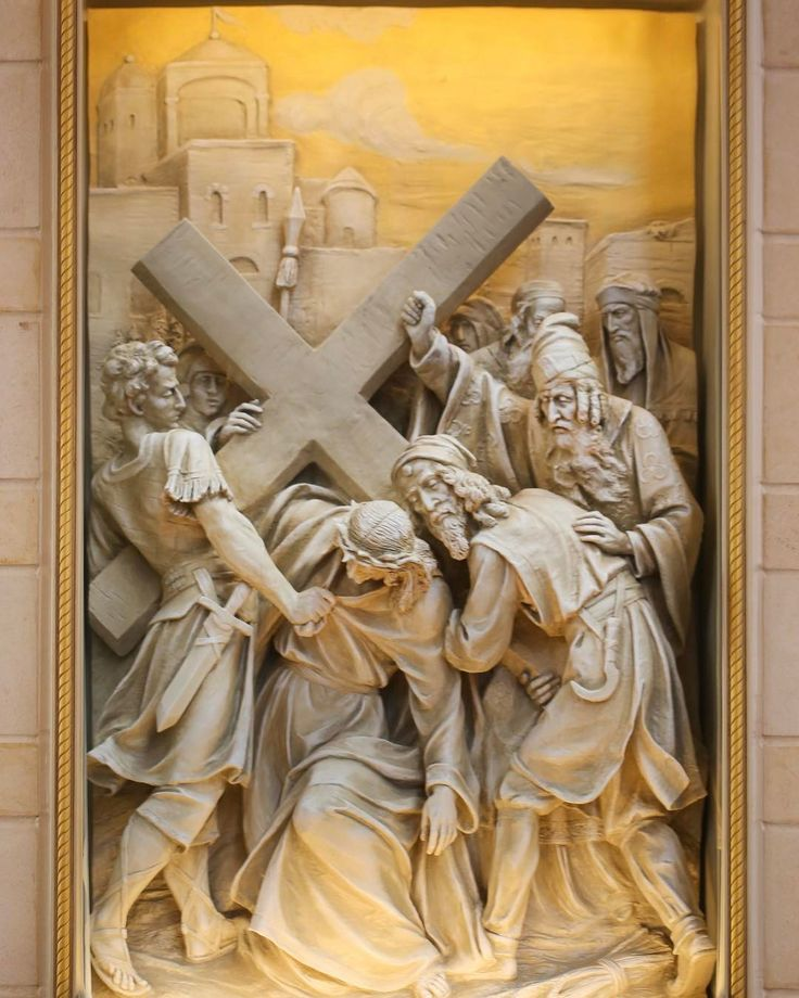 Stations of the Cross, St. John Vianney Catholic Church, Houston, TX. Designed, painted and detailed by Rohn & Associates Design.
