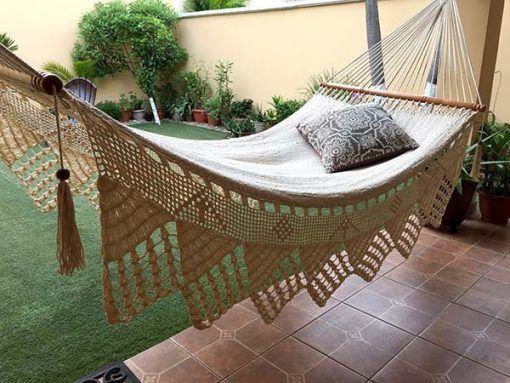 hamaca blanca picos. Personalizala como quieras.  White hammock, customizable