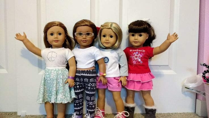 My American girl dolls Left to right: Olivia, Lea, Kit, Brooklyn