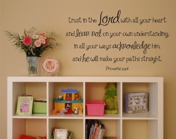 I am so doing this in our basement w/Expedite from Ikea! Now I just need to find the words.