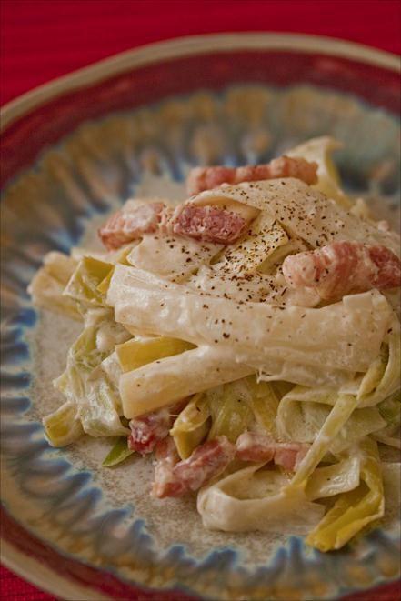 Carbonara de poireaux, un dîner chez Thoumieux, côté Brasserie - Panier de saison, le blog de la cuisine du marché!