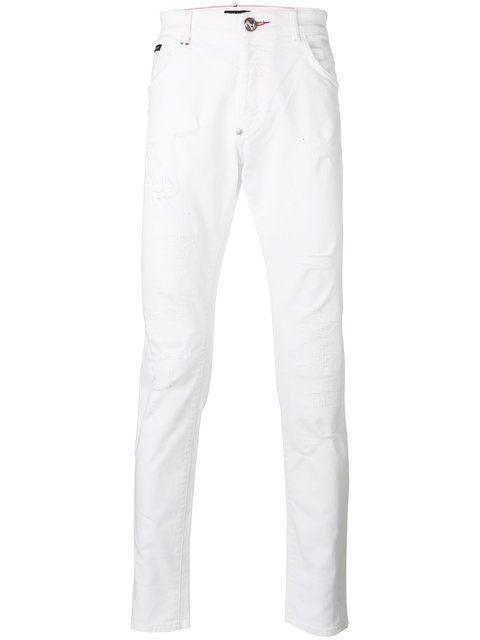 PHILIPP PLEIN Dream Super Straight Jeans. #philippplein #cloth #jeans