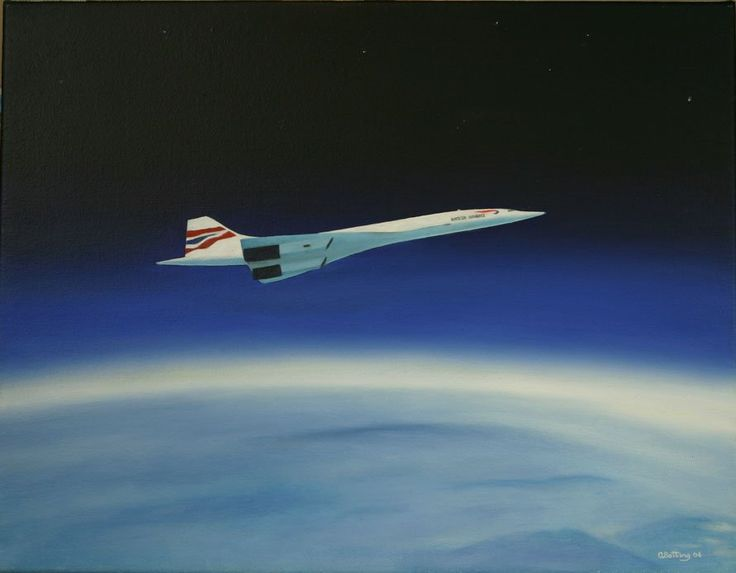 Concorde. It took 3 1/2 hours to get to New York it was so high that you could see the curvature of the earth