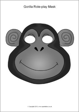 Gorilla role-play masks (SB9879) - SparkleBox