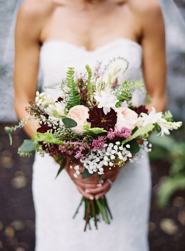 fall bouquet with chocolate cosmos   Brandon Chesbro #wedding