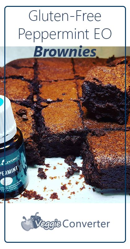 Gluten-Free Peppermint Essential Oil Brownies
