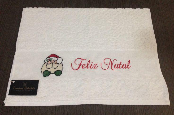 Produto a venda  Toalha rosto natal  Contato (47)99611-0626