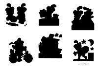 Peuterthema's: Sint en Piet: schaduwpuzzel ook leuk als mal op glazen potten met waxine lichtje