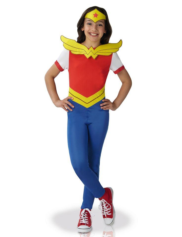 Kostüm Wonder Woman™ Superhero Girls™: Dieses Wonder Woman™ Kostüm ist das offizielle Originallizenzprodukt.Es besteht aus einem Anzug mit einem abnehmbaren Schild und einem Kopftuch ( Schuhe sind nicht...