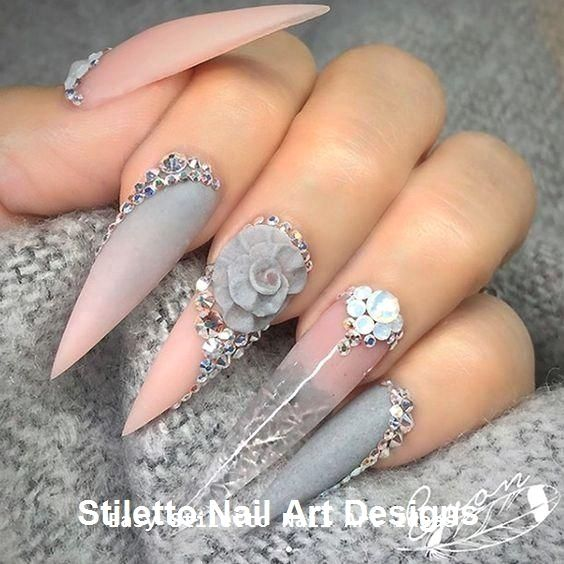 30 Great Stiletto Nail Art Design Ideas #nailideas #nailart