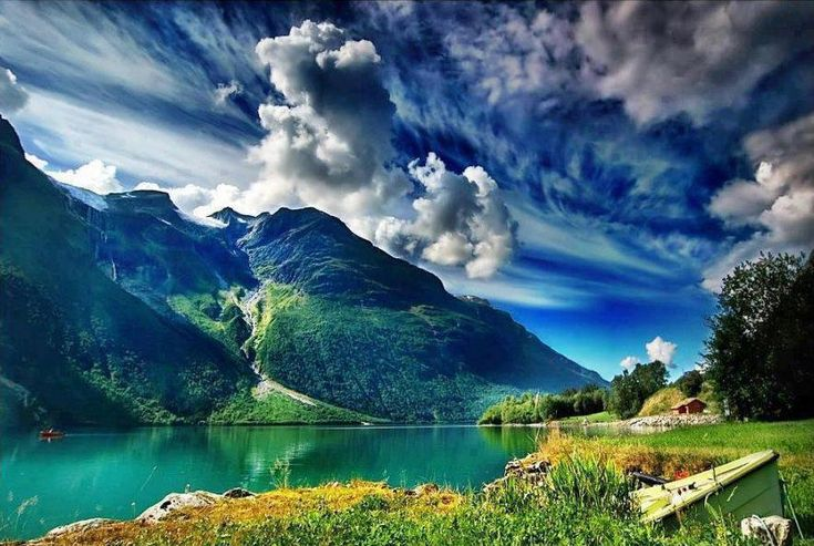Geirangerfjord, Norway.   Can't pronounce it, but I defiantly wanna see that with my own eyes.