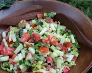 Jerusalem Salad - great alternative side dish for backyard bar-b-ques