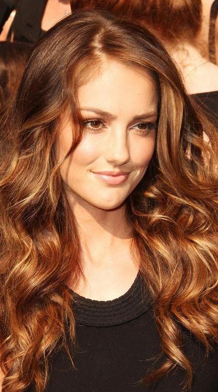 Golden Bronze Highlights Bronze Hair Color Golden Hair