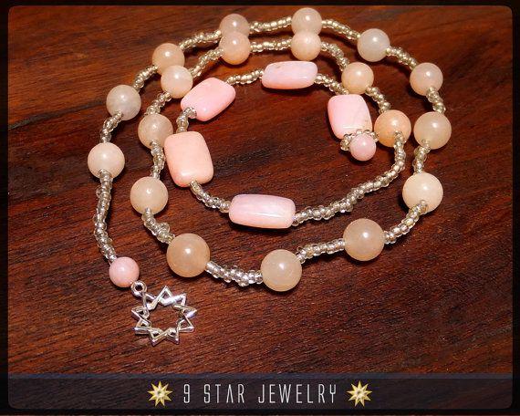 Baha'i Prayer Beads  Pure Heart  Alláh-u-Abhá  by 9StarJewelry
