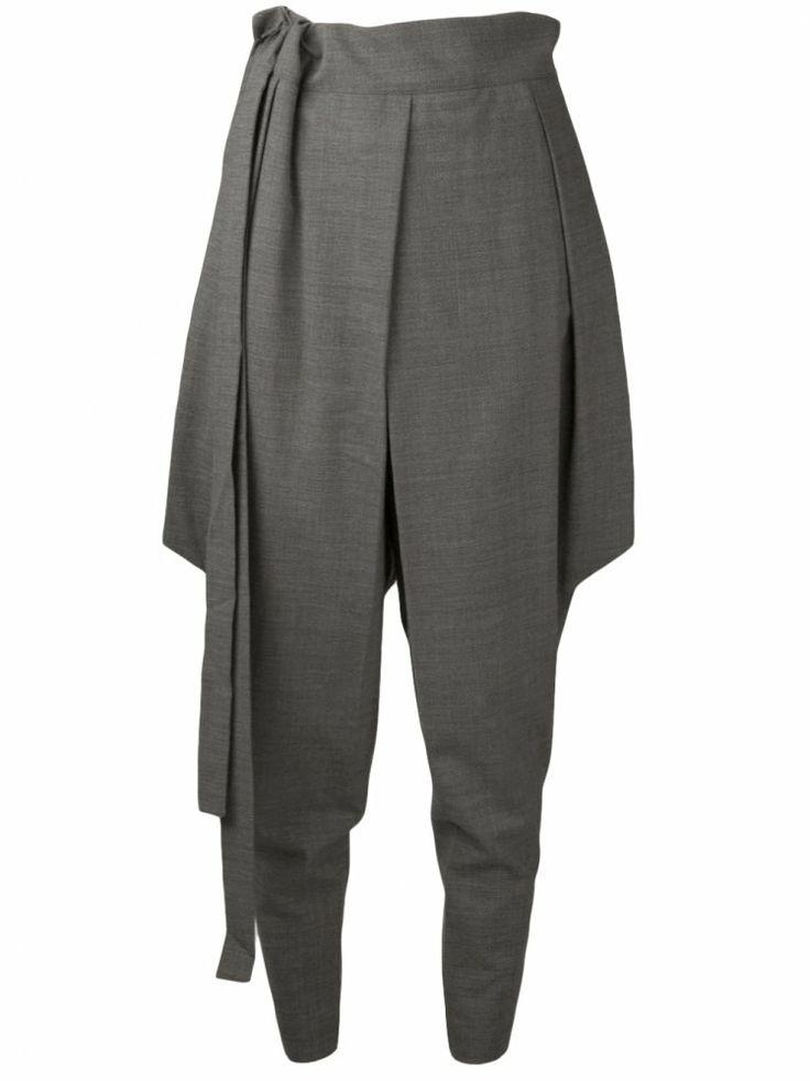 INAISCE - Tapered Harem Trouser with Extended Panel - 13035 NASREDDIN SILT - H. Lorenzo