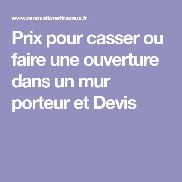 Casser Un Mur Porteur Cout. Elegant Prix Casser Mur Porteur