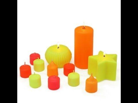 Hacer velas velas color neón