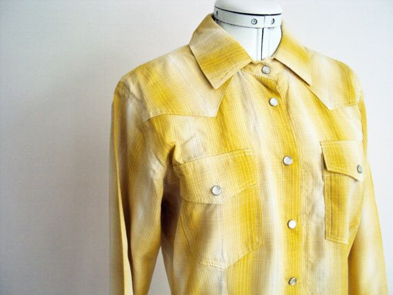 western cowboy shirt mustard yellow plaid with by VictoriaWestbury, $78.00Yellow Plaid, Westerns Cowboy, Shirts Mustard, Cowboy Shirts, Wester Wear, Mustard Yellow