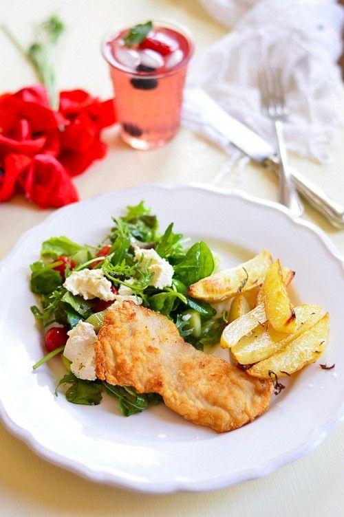 Hirtelen sült csirkemell burgonyával