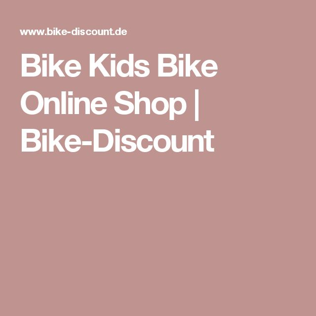 Bike Kids Bike Online Shop | Bike-Discount