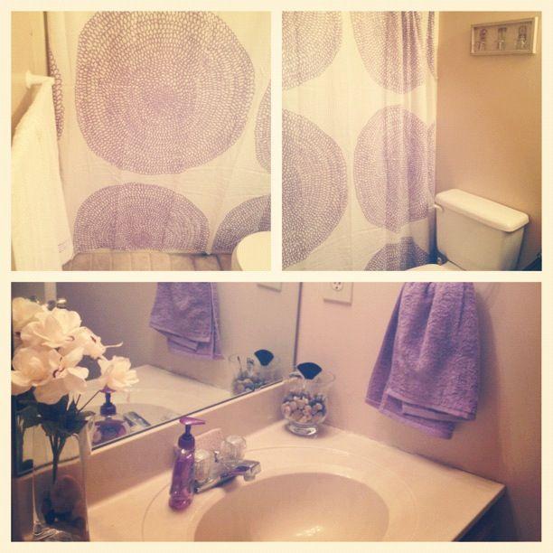 Gallery for lavender bathroom decor for Lavender bathroom decor